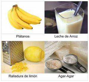 Ingredientes Flan de Plátano